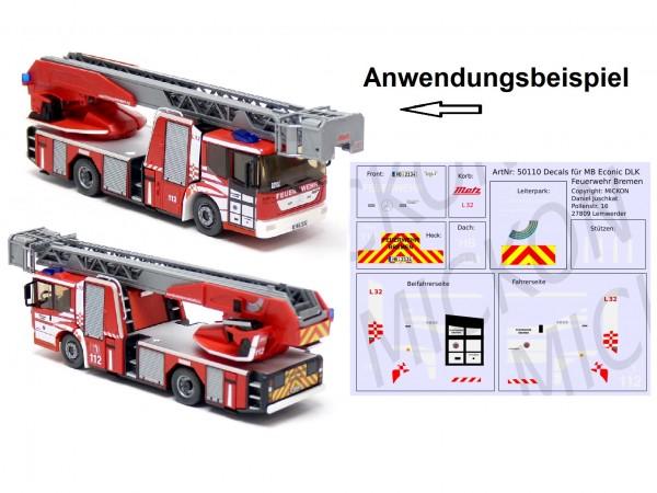 Decalbogen - MB Econic DLK Feuerwehr Bremen