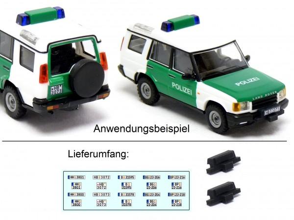 2 Stück Seilwinden mit Kennzeichen Decals passend für Busch Land Rover Discovery Polizei