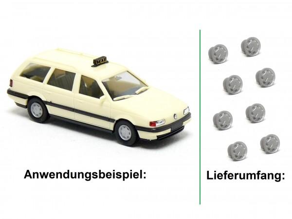 8x Stahlfelge passend für Herpa VW Passat B3