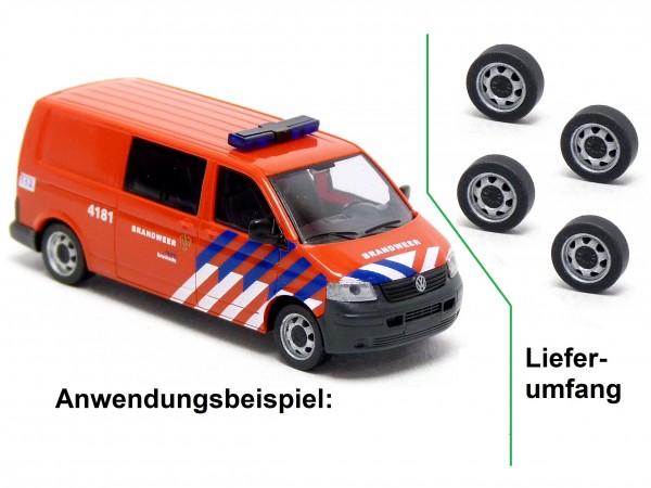 """4x 17"""" Stahlfelge mit Reifen passend für Rietze VW T5 Modelle"""