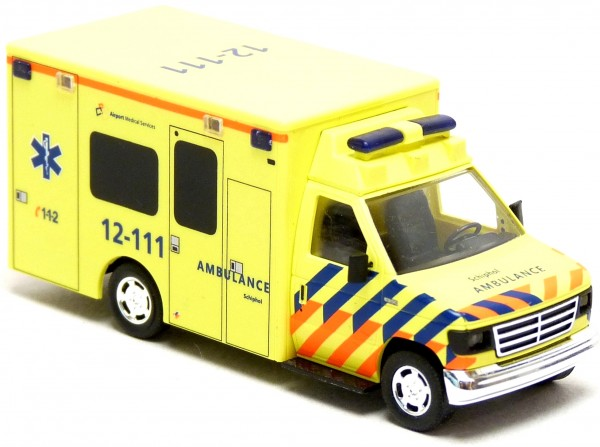 Busch - Ford E-350 RTW Ambulance Airport Amsterdam Schiphol