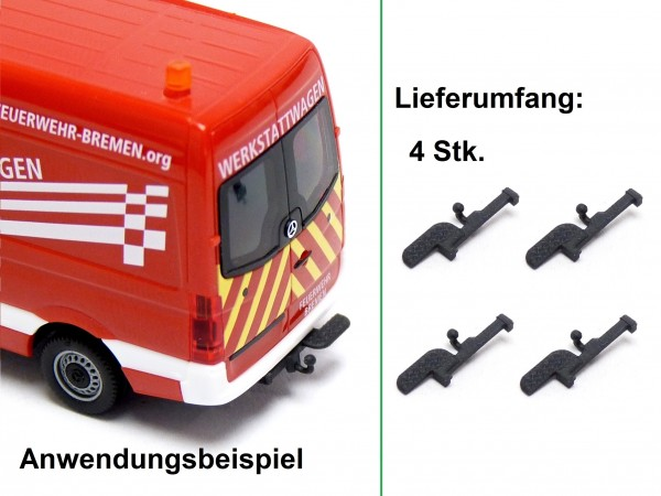 4x Anhängerkupplung für Transporter mit Trittbrett