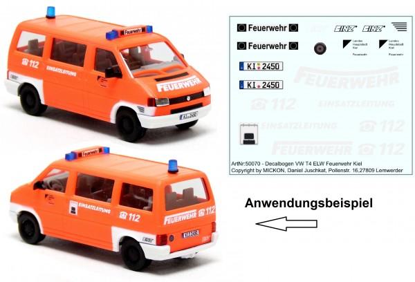 Decalbogen - VW T4 Bus ELW 1 Feuerwehr Kiel